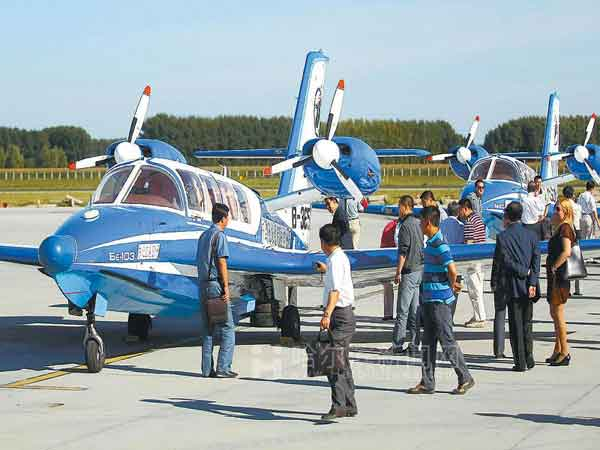 中国114黄页-哈尔滨分站-本地动态-两架水陆两用飞机